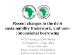 Recent changes in the debt sustainability framework