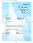 Chapter 10 - Qualitative Research Designs