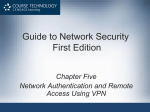 Authentication and Remote Access using VPN