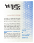 Chapter 1. Basic Concepts in the Biology of Aging