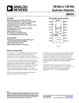 AD8349 700 MHz to 2700 MHz Quadrature Modulator Data Sheet