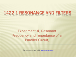 1422-1 Resonance and Filters - Cleveland Institute of Electronics