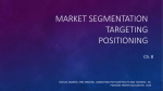 Market Segmentation Targeting Positioning