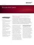 Brocade 6510 Switch Data Sheet