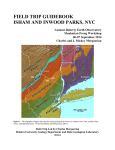 FIELD TRIP GUIDEBOOK ISHAM AND INWOOD PARKS, NYC  -