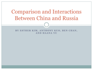Comparison and Interactions Between China and Russia