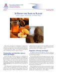 Is Honey the Same as Sugar? - University of Arizona Cooperative