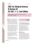 EMC For Medical Devices: A Review Of IEC 601-1