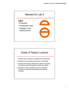 Needed for Lab 2 Goals of Today's Lecture Lab 2 • Protractor