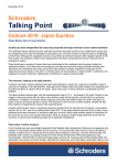 Talking Point Schroders Outlook 2016: Japan Equities