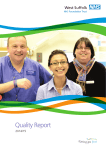 Quality Report West Suffolk 2014/15 NHS Foundation Trust