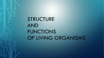 STRUCTURE AND FUNCTIONS OF LIVING ORGANISMS