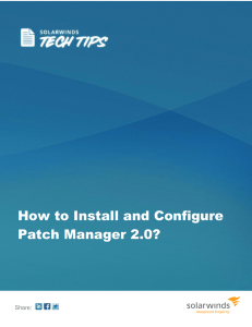 How to Install and Configure Patch Manager 2.0?