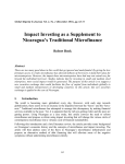 Impact Investing as a Supplement to Nicaragua's Traditional Microfinance Robert Book