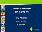 Oleochemicals from Palm Kernel Oil