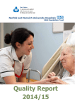 Quality Report 2014/15 Norfolk and Norwich University Hospitals