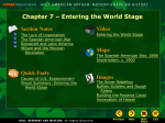 Chapter 7 – Entering the World Stage Video Section Notes