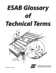 ESAB Glossary of Technical Terms