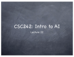 CSC242: Intro to AI Lecture 22