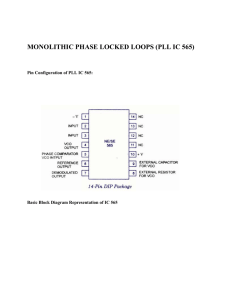 MONOLITHIC PHASE LOCKED LOOPS (PLL IC 565)