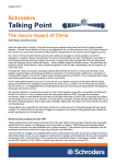 Talking Point Schroders The macro impact of China