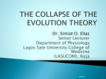 THE COLLAPSE OF THE EVOLUTION THEORY