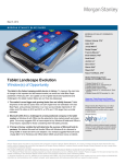 Tablet Landscape Evolution: Window(s) of