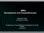 SMEs Development and Competitiveness  Stephanie Vella