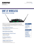 UHF-R Specification Sheet