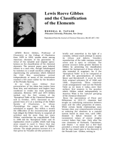 Lewis Reeve Gibbes and the Classification of the Elements