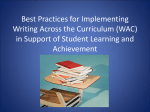 Best Practices for Implementing Writing Across the Curriculum (WAC