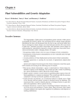 Chapter 4 Plant Vulnerabilities and Genetic Adaptation Bryce A. Richardson