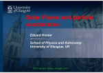 Solar Flares and particle acceleration