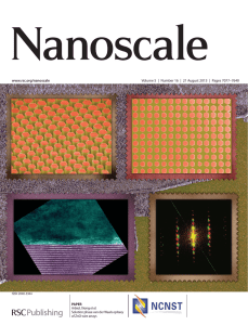 www.rsc.org/nanoscale Volume 5 | Number 16 | 21 August 2013