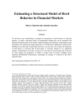 Estimating a Structural Model of Herd Behavior in Financial Markets