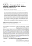 Application of metagenomics to assess microbial communities in water and other