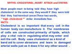 Myths - Cholesterol , Heart Attack and Statins