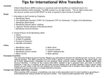 Tips for International Wire Transfers