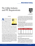 The Utility Industry and PPE Requirements