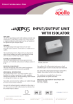 INPUT/OUTPUT UNIT WITH ISOLATOR - Det