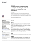 Dynamic Frequency Analyses of Lower Extremity Muscles