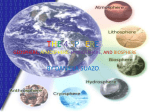 Geosphere, Atmosphere, Hydrosphere, and Biosphere.