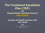 TEP - Treatment Escalation Plans