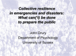 Collective resilience in emergencies and disasters: What can( t) be done to prepare the public.