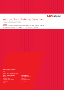 Westpac Trust Preferred Securities