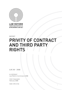 Report on Privity of Contract and Third Party Rights