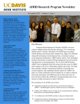 ADHD Research Program Newsletter November 2012 – Volume 1, Issue 1
