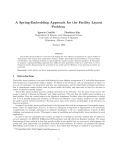 A Spring-Embedding Approach for the Facility Layout Problem