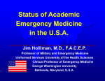 Status of Academic Emergency Medicine in the U.S.A.
