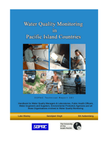 Water Quality Monitoring in Pacific Island Countries